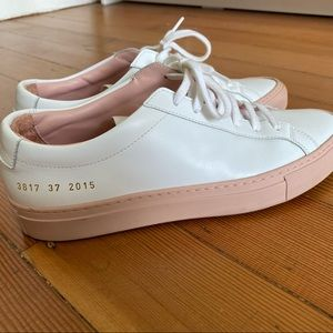 Common Projects Achilles Low White Pink — Size 37
